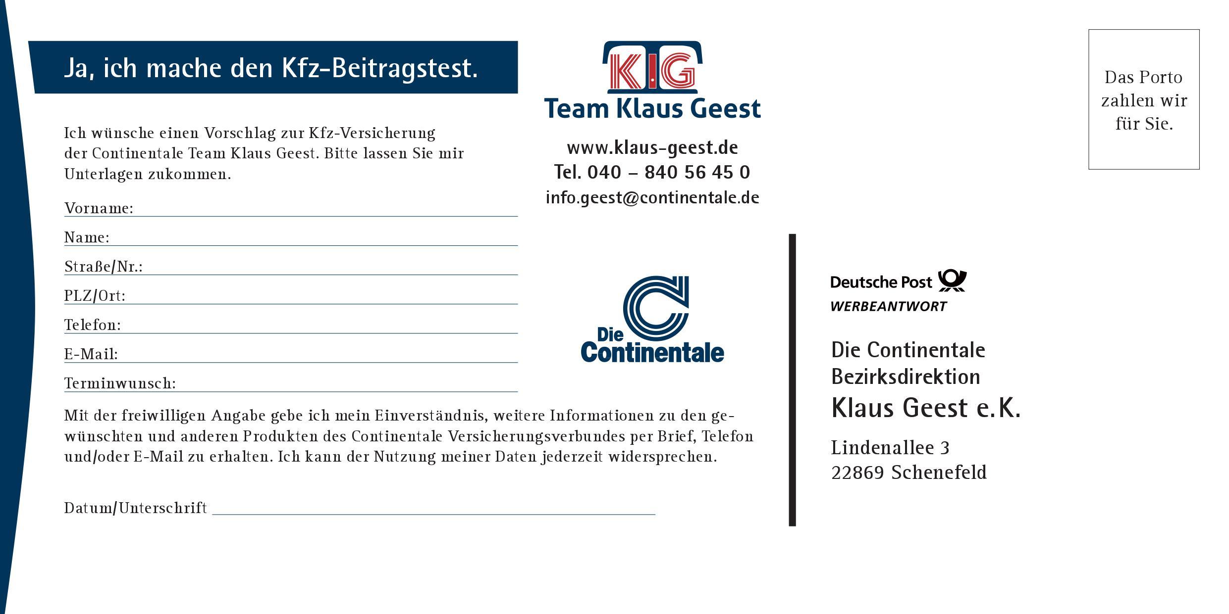 Postkarte KFZ Beitrag 2